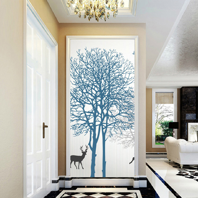 modern Home Decor Forest deer tree Painting on canvas art Pictures on the Wall for door living room Accepts a variety of sizes-in Painting u0026 Calligraphy ... & modern Home Decor Forest deer tree Painting on canvas art Pictures ...