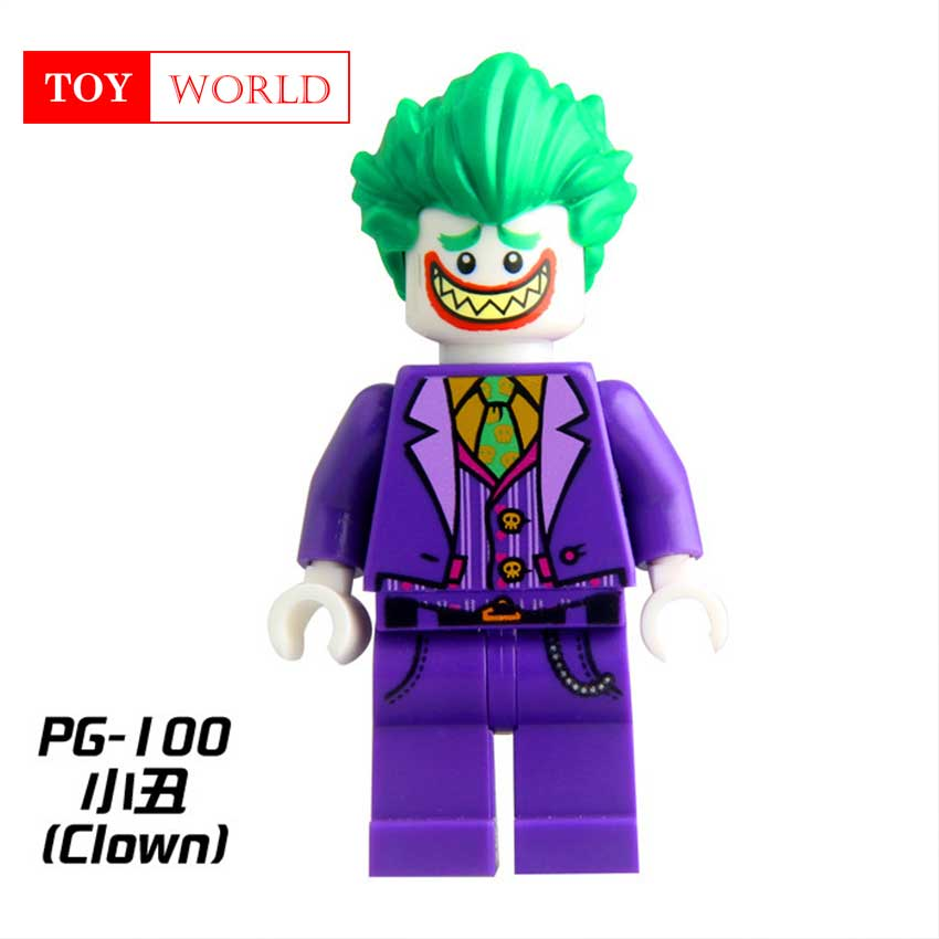 1pcs Super Heroes Harley Quinn Joker Batman Movie Catwoman Robin Poison Building Blocks Compatible With LegoINGly Batman zk15 1