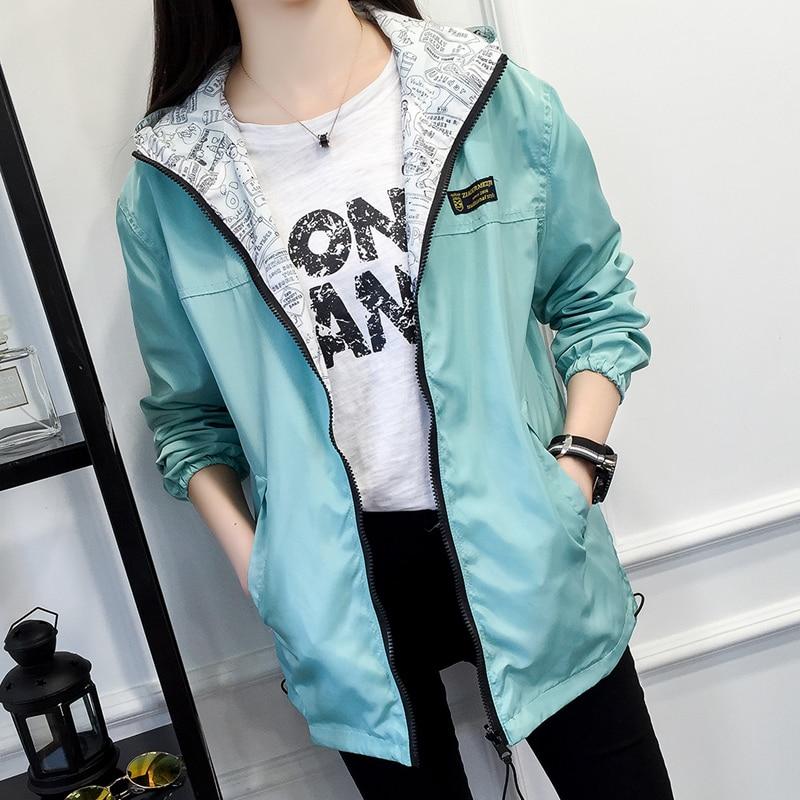 Jackets Women 2017 Spring New Fashion Jacket Womens Hooded basic Jacket Casual Thin Windbreaker female jacket Outwear Women Coat