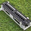 Сеть 10 дюймов мини-патч-панели Cat5e 12 портов патч-панель для настенного монтажа и монтажа в стойку оба имеющиеся