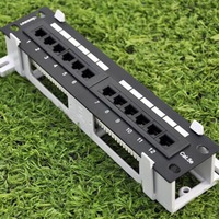 12 PORTS CAT5E PATCH PANEL Both WALL MOUNT RACK MOUNT
