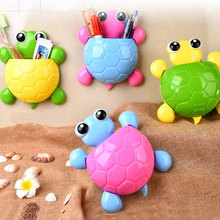 0062 cute cartoon tortoise modelling strong sucker toothbrush rack three toothpaste