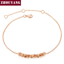 Top Quality Ripple Small beads Rose Gold Color Bracelet Jewelry ZYH215 ZYH216(China)