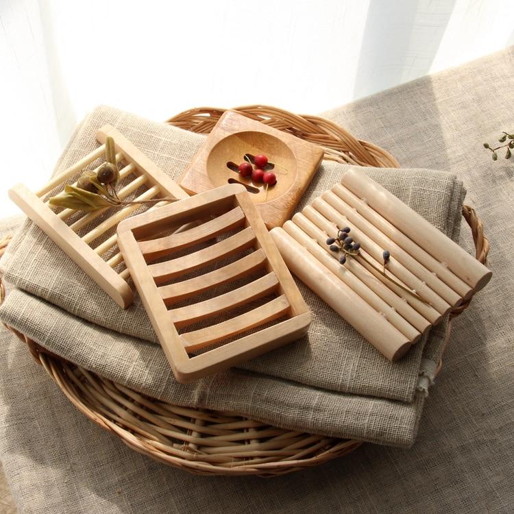 Creative Handmade Irregular Natural Wooden Soap Dish Tray Holder Storage Rack Plate Box Container For Bath Shower Bathroom JJ109