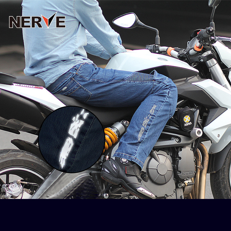 Brand NERVE Motorcycle Riding Protection Pants Motocross/MOTO Racing Gear Breathable Jeans Trousers for Men and Women Summer brand nerve motorcycle riding protection pants motocross moto racing gear breathable jeans trousers for men and women summer