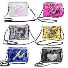 New Women Fashion Glitter Sequin Small Handbag Makeup Bags Crossbody  Shoulder Bag Coin Purse Bags for c896592906fb