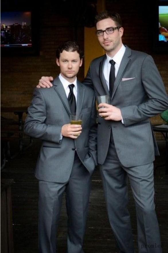Nouveau Homme as veste De Style 2015 Smokings Gris Cravate Pantalon Custom Picture Made As Mariage Marié Pour Picture Costumes Le pxSqxw