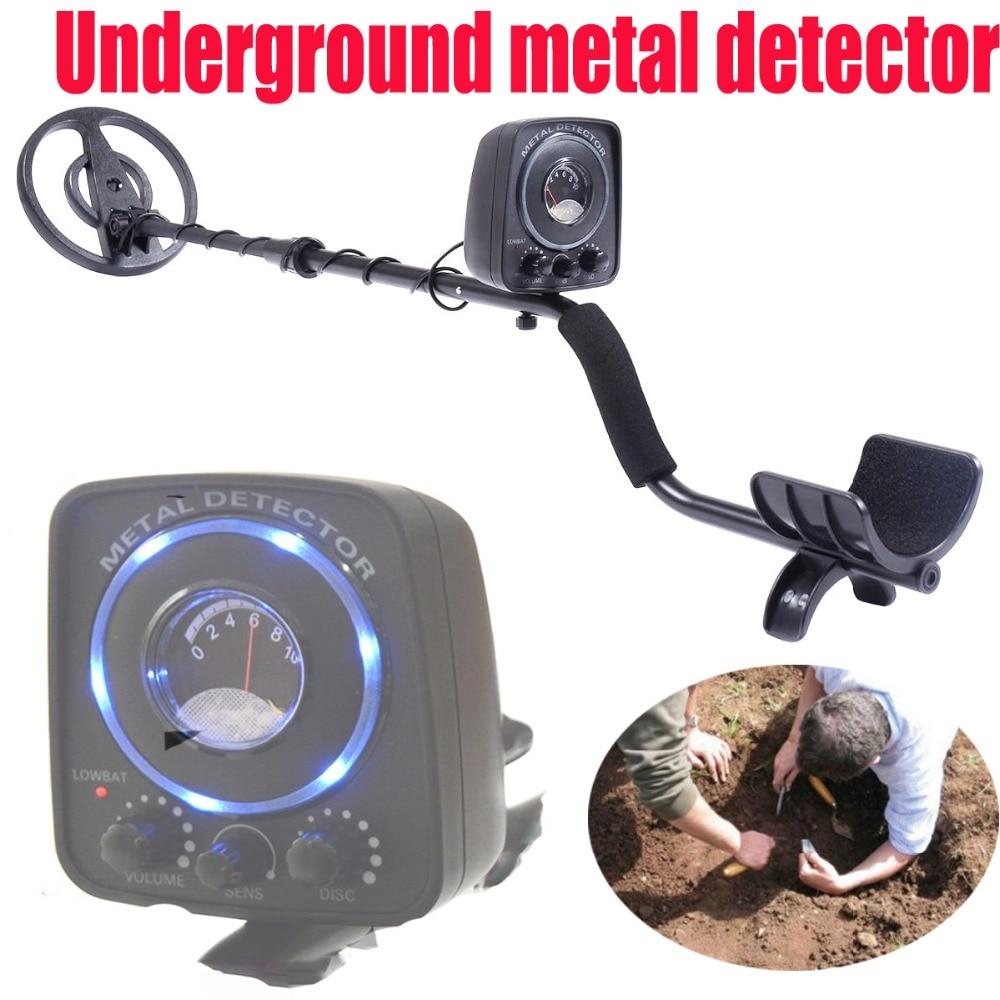 Détecteur de métaux souterrain, outils industriels multifonctionnels de trésor d'appareil de contrôle numérique en métal avec le LED bleu