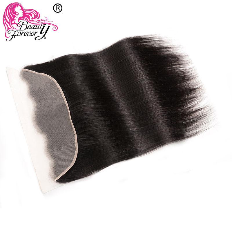 Transparent Lace Frontal 13X4 Ear To Ear Free Part Peruvian Straight Human Hair Lace Frontal Remy Beauty Forever Hair(China)