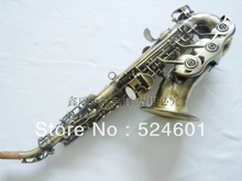 Wholesale Anti the little elbow in soprano saxophone B flat green bronze