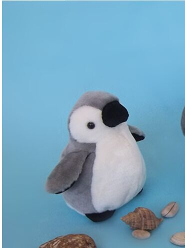 mini cute plush gray penguin toy high quality small penguin doll gift about 16cm