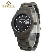 BEWELL Men's Watch Fashion Casual Wooden Watch Nature Wooden Series Brand Watch Waterproof Men Accessories Fashion 064AG