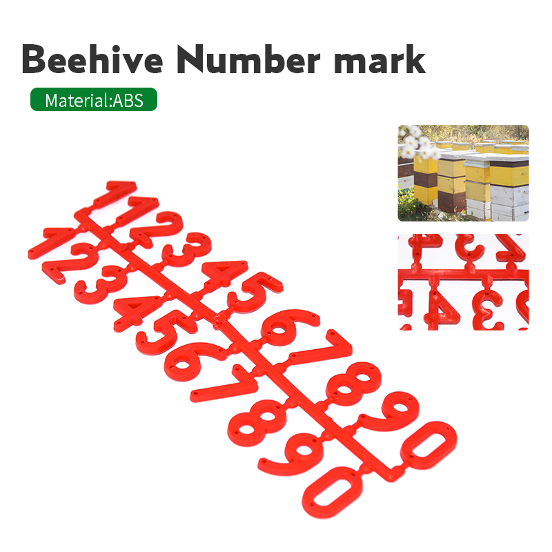 Apiculture 3PCS/pack Plastic Beehive Digital Number  Box Sign Frame Beekeeping Equipment Tool Beekeeping Marking Board