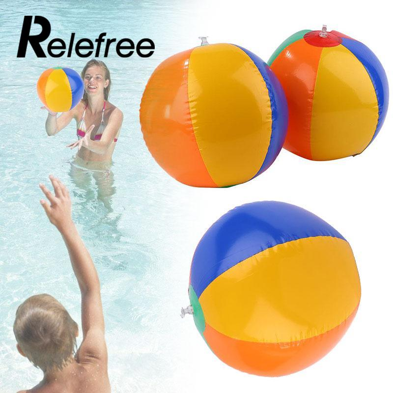 Relefree Hot Colorful Inflatable 23cm Ball Balloons Swimming Pool Play Party Water Game Balloons Beach Ball Swim Kids Water Toy
