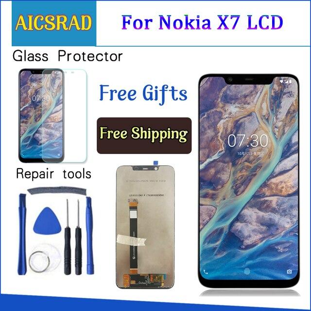 """AICSRAD 1920x1080 5.5 """"תצוגת עבור nokia 6 LCD מסך מגע Digitizer nokia-6-תצוגת החלפה עבור nokia 6 LCD תצוגה"""
