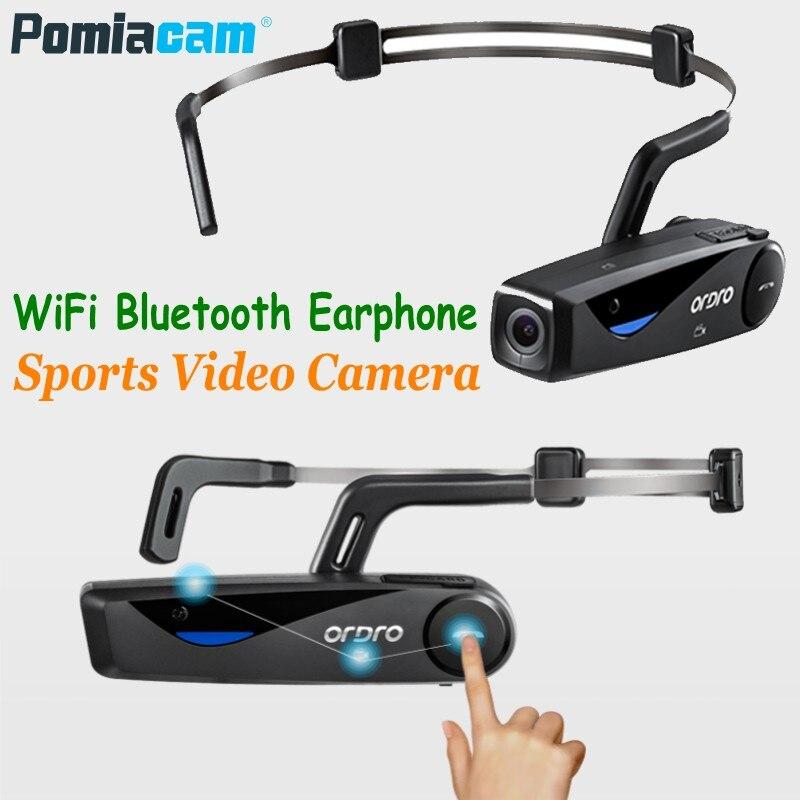EP5 tête-portable Action sport vidéo caméra HD 1080 P WiFi Bluetooth casque écouteur caméra Mini DV caméscope contrôle tactile