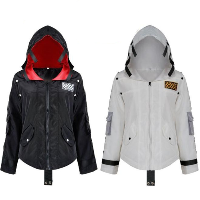 Game PUBG  Playerunknown's Battlegrounds Cosplay Costume White Black Coat Hooded Sweat Jacket Christmas Halloween For Kids Adult