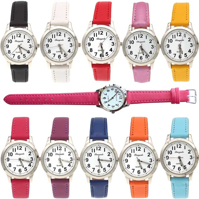 Fashion Brand Children Watches Girls Daily Waterproof Leather Cartoon Watch For Girls students electronic Quartz Wristwatches