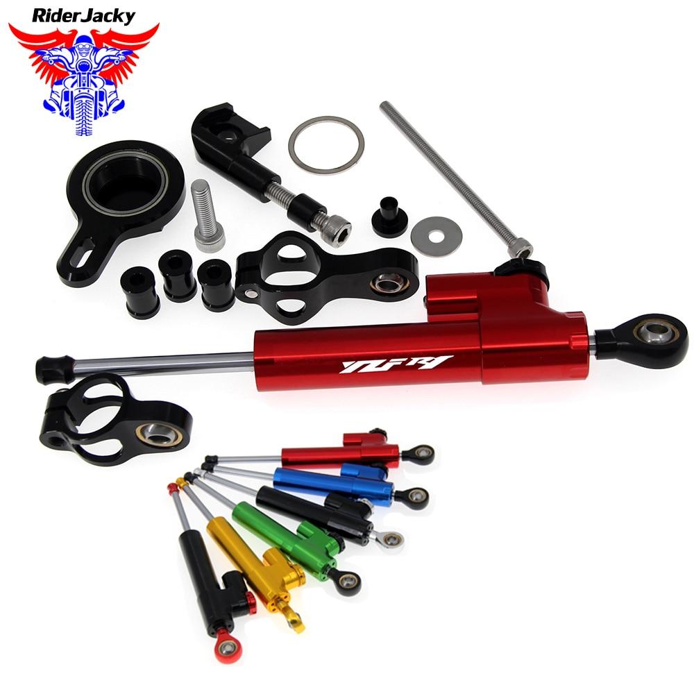 CNC Steering Stabilizer Damper Kit Bracket For Yamaha YZF R1 1998 1999 2000 2001