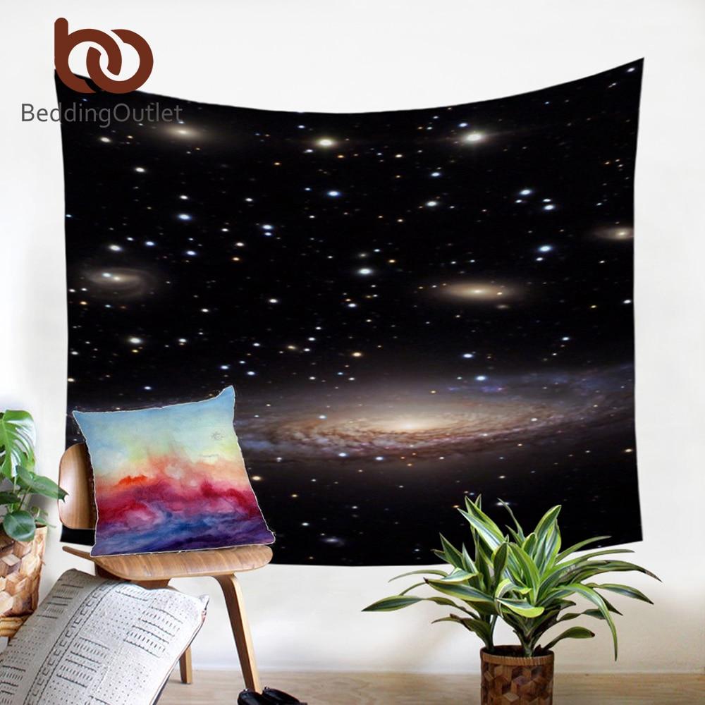 BeddingOutlet Nebula Tapisserie 3D Gedruckt Galaxy Dark Wand Teppich Hause Hängen Wandteppiche Polyester Blatt 130x150 150x200 cm