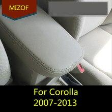Автомобильный Стайлинг, модификация, аксессуар из волокнистой кожи, центральный подлокотник для Toyota Corolla 2007 08 09 10 11 12 2013 AAB069