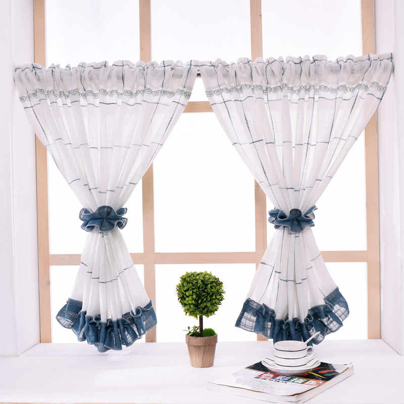 Sheer Curtains Cotton Linen Kitchen