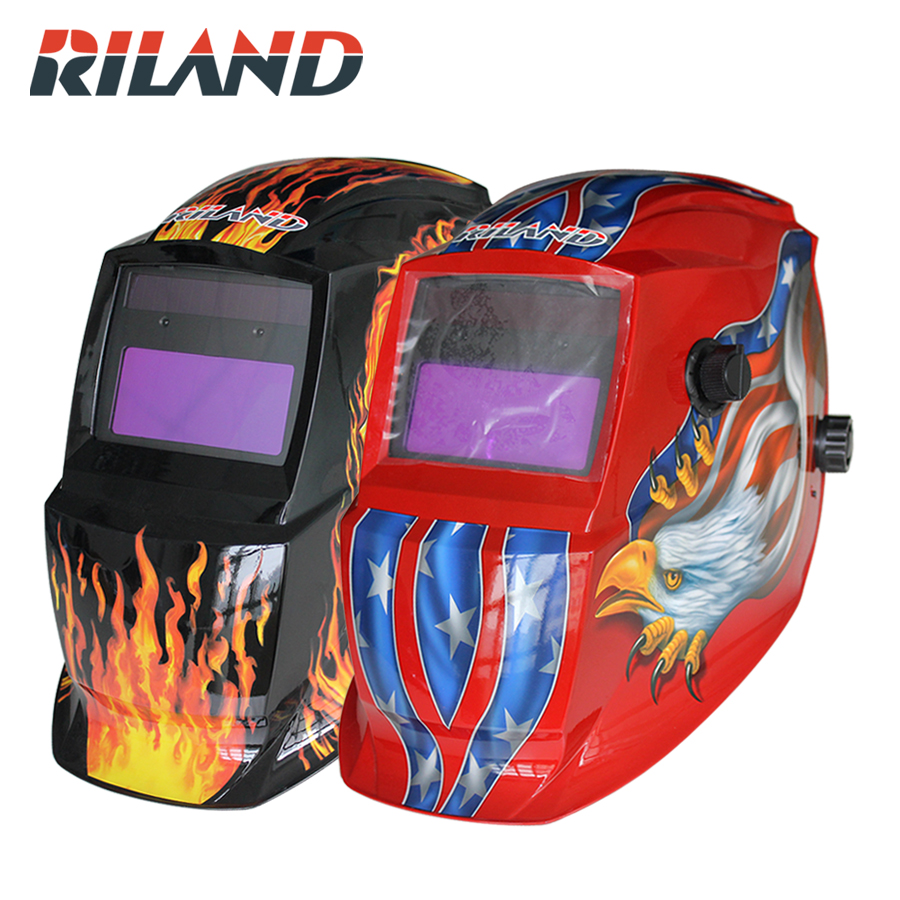 RILAND Skull Solar auto darkening electric Eagle welding mask Welding Equipment TIG MIG MMA Electric Welding Mask Welding Cap solar auto darkening welding mask tig mig arc welding hood mask protective electric dc welding masks