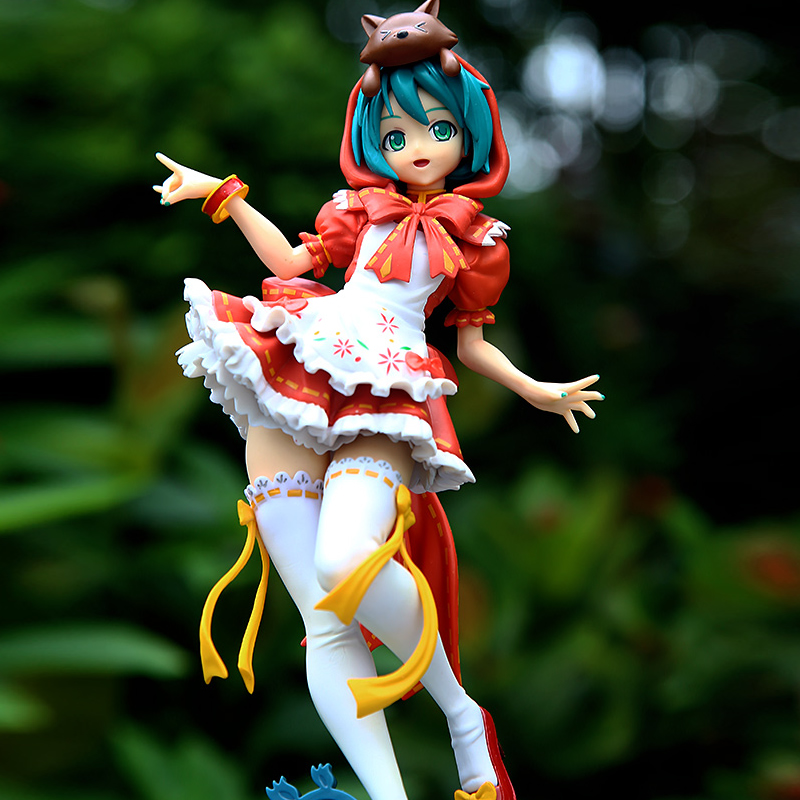 25cm japan Anime Action Figure Hatsune Miku Red Riding Hood Project DIVA 2nd PVC Collectible Model Toy  with