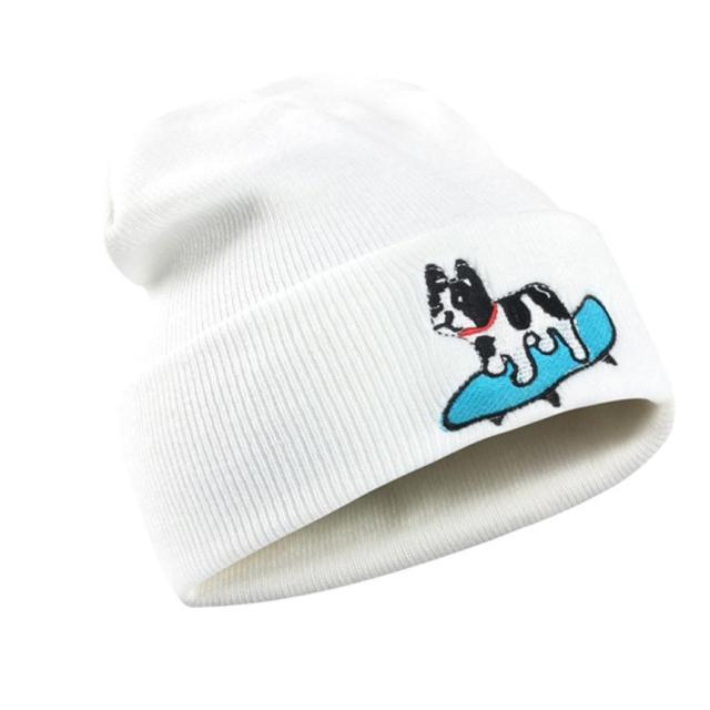 Warm Cute Dog Patternd Beanie