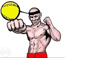 Lucha Bola Reflex, ponche Ejercicio para el Boxeo, MMA y otros deportes de combate de boxeo speedball diadema