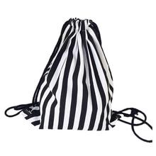 VSEN Hot Drawstring Backpack Canvas Draw String Bag Sac A Dos Rucksack Sack Mochila Feminina