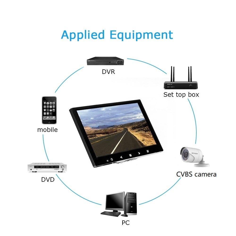 4:3 8 pouces TFT LCD Couleur Vidéo CCTV Mini Moniteur HDMI VGA BNC Entrée AV pour PC/CCTV de Sécurité système Testeur Stand Écran Rotatif