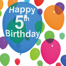 Laeacco Happy 5th Birthday Balloon Decor Children Photography Backgrounds Customized