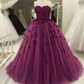 Purple Wedding Dress 2017 Ball Gown Off Shoulder Bridal Dress Appliques Beadings Wedding Gown vestido de noiva robe de mariage