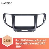 Harfey 2Din Radio Fascia Panel kit for Honda Accord Europe/Spirior/ACURA SR9 2010 Trim Install Frame Dash Kit Car Stereo Frame
