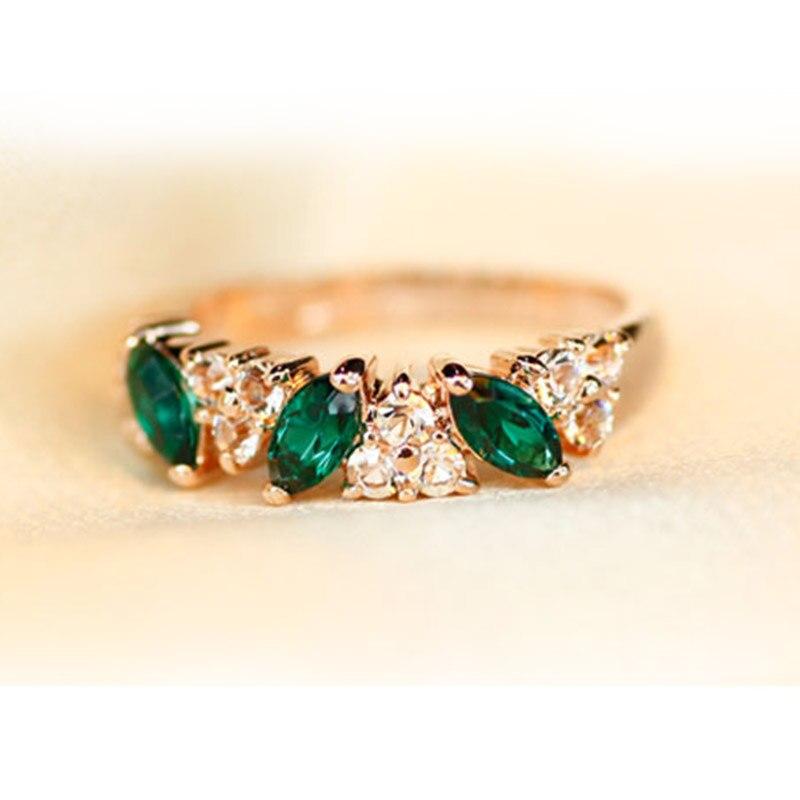 (#RI055) Elegant Women Rings Green Blue rhinestone Crystal Decoration Fashion Jewelry Gold Big Cheap finger rings