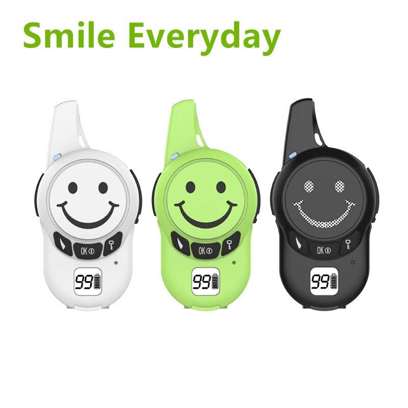 A Pair Free License UHF Mini Walkie Talkie for Kids JJCC JC 007 Two Way Radio Smile HAM Transceiver PMR