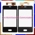 """3.0 """"teléfono negro para nokia lumia 501 n501 touch panel táctil pantalla digitalizador del sensor frontal lente de cristal código de seguimiento del envío libre"""