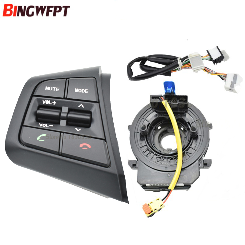 for Hyundai creta IX25 1.6L left Steering wheel button switch volume control button Bluetooth phone with wire and cable-in Car Switches & Relays from Automobiles & Motorcycles