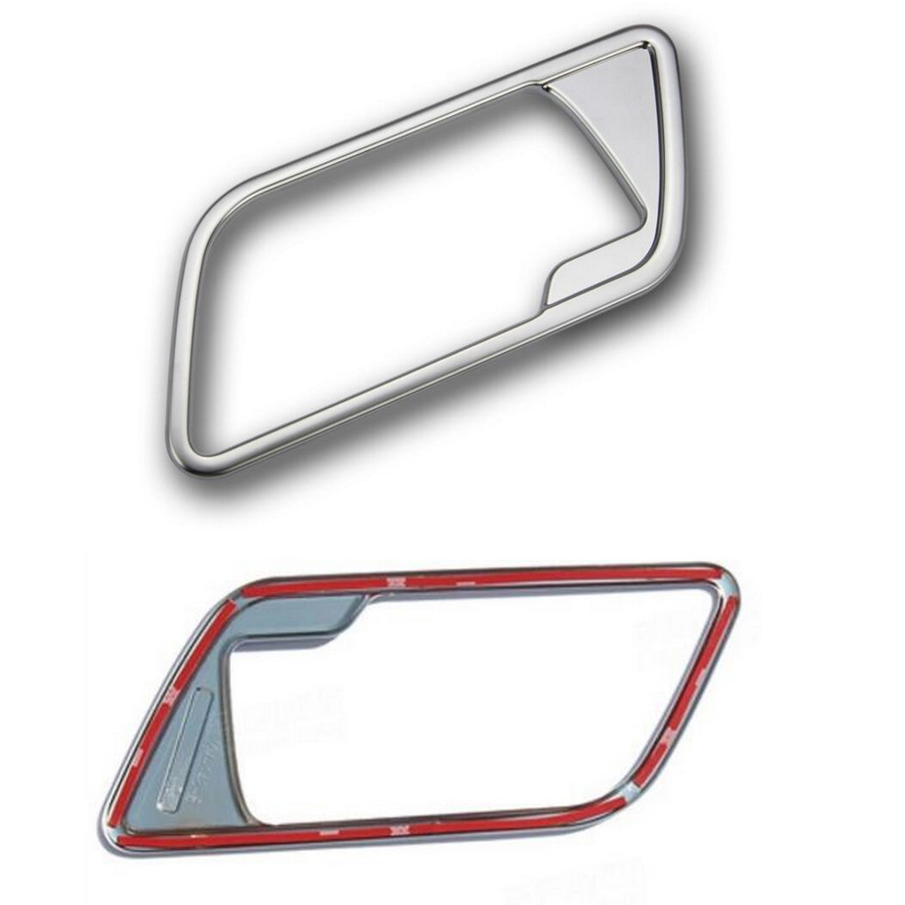 New Chrome 4pcs Interior Door Handle Cover Frame Trim Cover for L/and Rover FREELANDER 2 LR2 2008-2015 Interior Mouldings купить