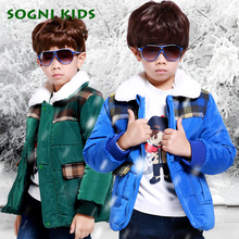 Infant Overcoat Winter Jacket for Boys Child Down Jacket Parka Baby Boys Padded Clothes Turn down