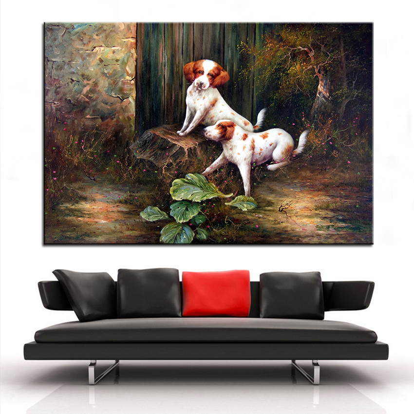ᗐWall Art, Wall Decor, Wall Painting Lovely dog Digital oil ...
