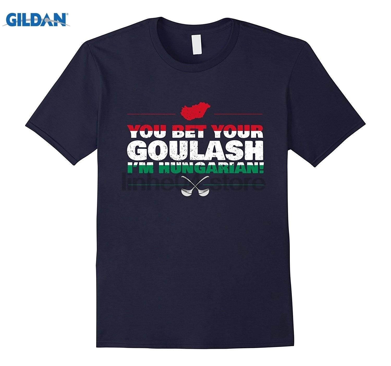 GILDAN You Bet Your Goulash Im Hungarian - Funny Hungary Flag Food glasses Womens T-shirt