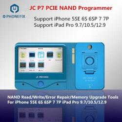 JC Pro1000S JC P7 PCIE NAND programator SN odczyt zapisu naprawa narzędzie do iphone'a 7 7 P 6S 6SP iPad pro aktualizacja pamięci w Zestawy elektronarzędzi od Narzędzia na