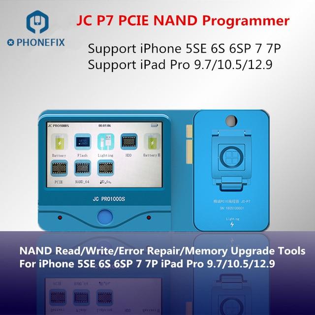 JC Pro1000S JC P7 PCIE NAND programmeur SN outil de réparation décriture pour iPhone 7 7 P 6S 6SP iPad pro mise à niveau de la mémoire