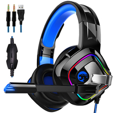 Wired Headphones With Microphone Over Ear Sound Music Stereo Earphone With Mic Headphones Gaming Computer Headset Earphone sades a6 usb gaming headphones professional over ear game headset 7 1 surround sound earphone wired mic for games