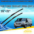 "Escovas Para FORD TRANSIT (2006-2013) 2007 2008 2009 2010 2011 2012 Car Windscreen Windshield Wiper Blade 26 ""+ 22"" Carros estilo"
