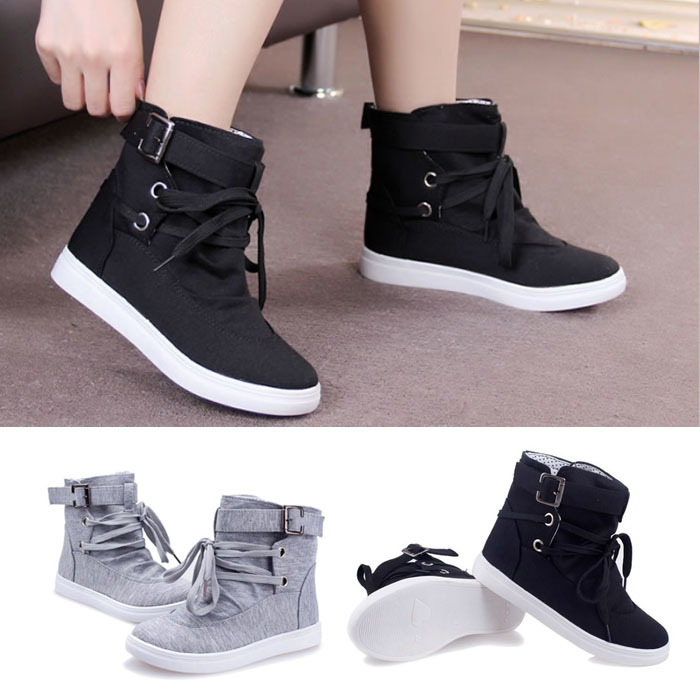 Online Shop Womens Girls Students Autumn Spring Lace-up Ankle ...