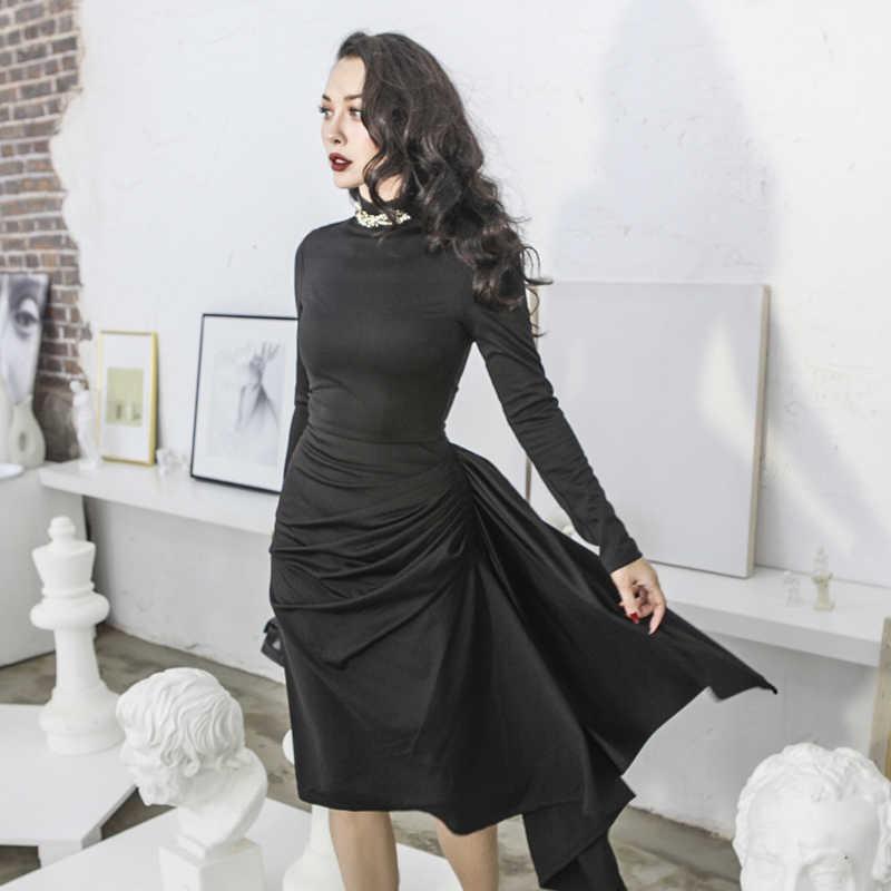 ... 40- le palais vintage 50s women classic little black dress elegant  Audrey Hepburn style pencil ... ebe7e651777c