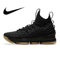 Original Nike Lebron 15 LBJ15 Men's Basketball Shoes Comfortable Outdoor Sneakers Athletic Designer Footwear 2018 New 897649